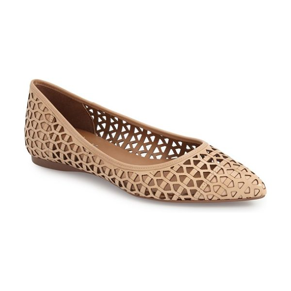 FRENCH SOLE quantum flat - Geometric cutouts lend modern style to a chic pointy-foe...