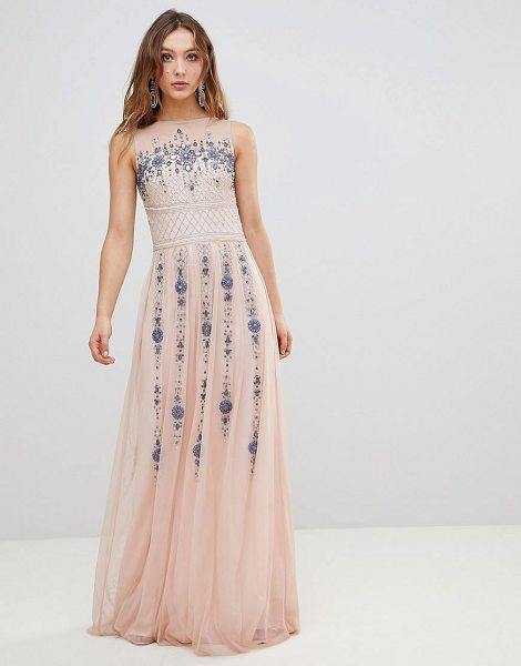 Frock And Frill premium all over embellished maxi dress in pinkmulti - Maxi dress by Frock and Frill, For that thing you RSVPd...