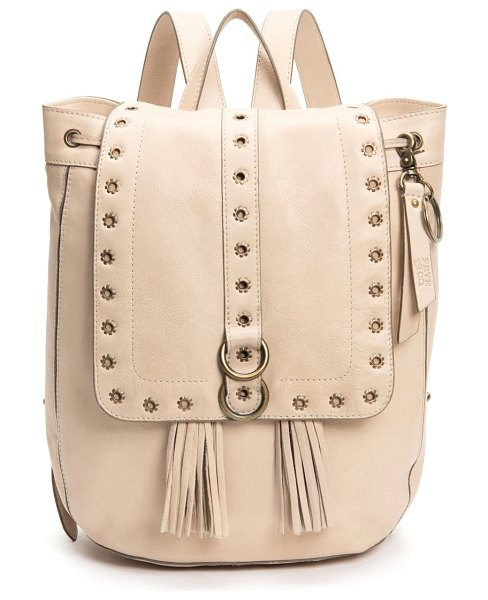FRYE AND CO frye evie leather backpack in beige