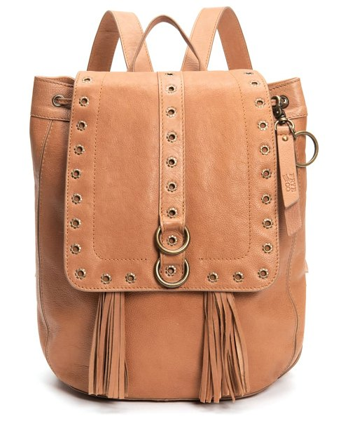 FRYE AND CO frye evie leather backpack in brown