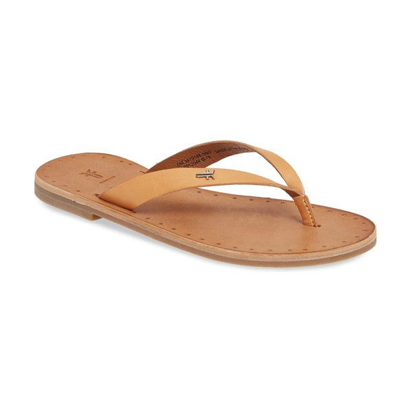 Frye azalea flip flop in brown