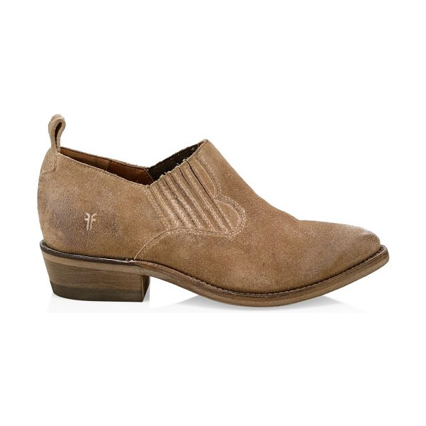 Frye billy textured oxfords in tan