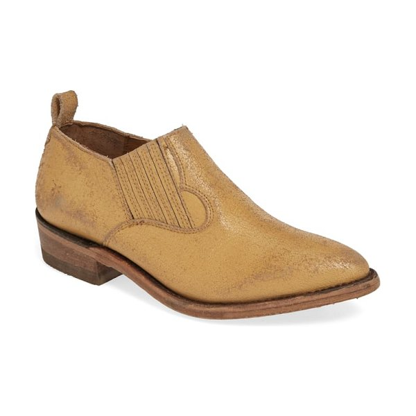 Frye billy western bootie in beige
