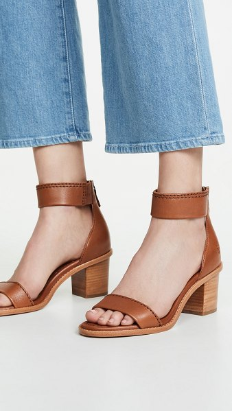 Frye brielle back zip sandals in copper