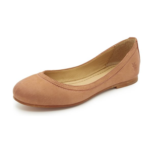 Frye Carson ballet flats in dusty rose - Classic Frye ballet flats feature an embossed logo at...