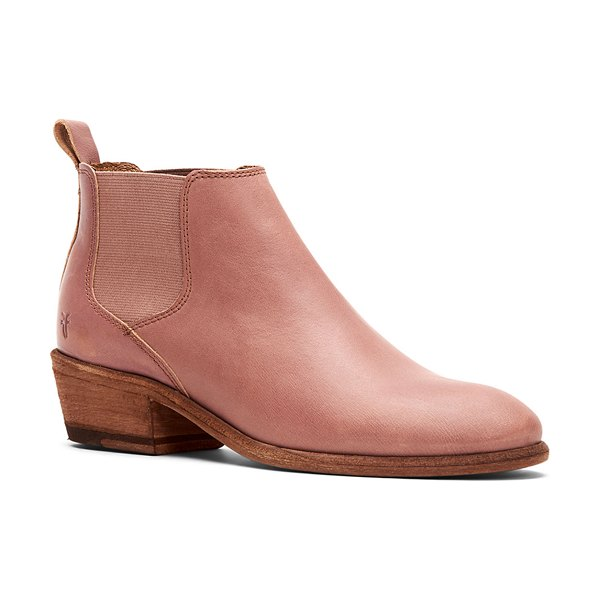 Frye Carson Leather Chelsea Booties in blush