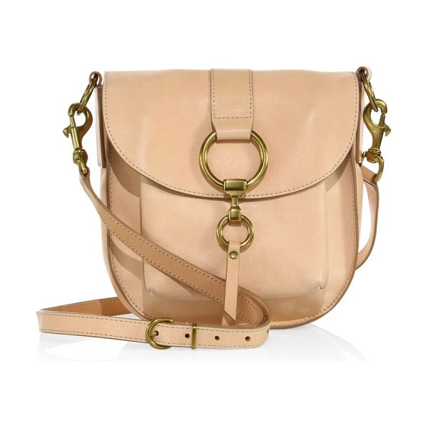 FRYE ilana leather saddle in natural - Elegant leather saddle with signature ring hardware....