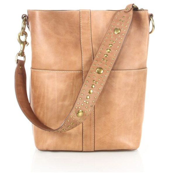 Frye ilana studded leather hobo bag in tan - EXCLUSIVELY AT SAKS FIFTH AVENUE. Tall leather hobo bag...