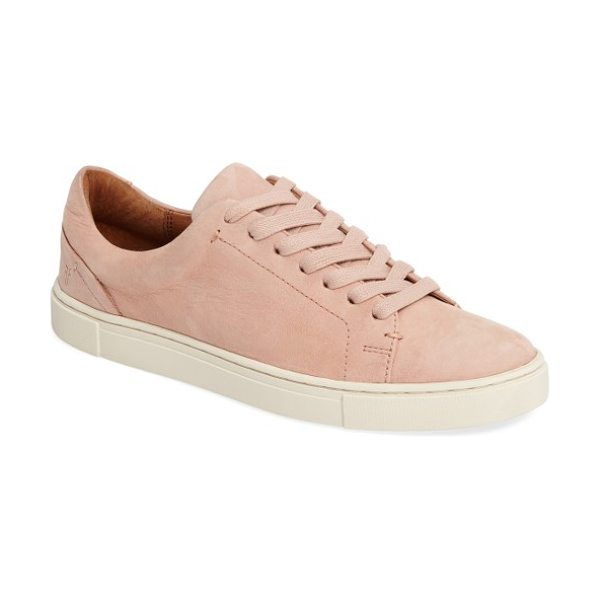 Frye ivy sneaker in blush - Designed with a sleek, low-profile silhouette from...