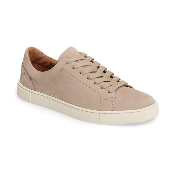 Frye ivy sneaker in taupe - Designed with a sleek, low-profile silhouette from...