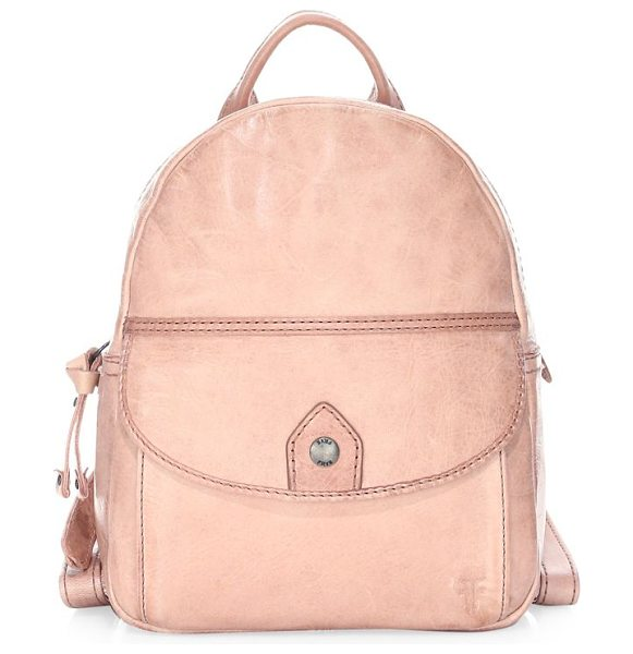 Frye melissa mini backpack in dusty rose - Small backpack crafted in rich Italian leather....