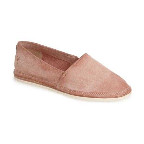 Frye milli a line nubuck leather slip-on in dusty rose - The slip-on gets even more comfortable thanks to Frye's...