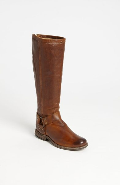 FRYE phillip harness tall washed leather riding boot - An antiqued sole grounds the rustic charm of a classic...