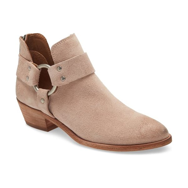 Frye ray low harness bootie in pink