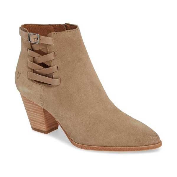 Frye reed strappy bootie in beige
