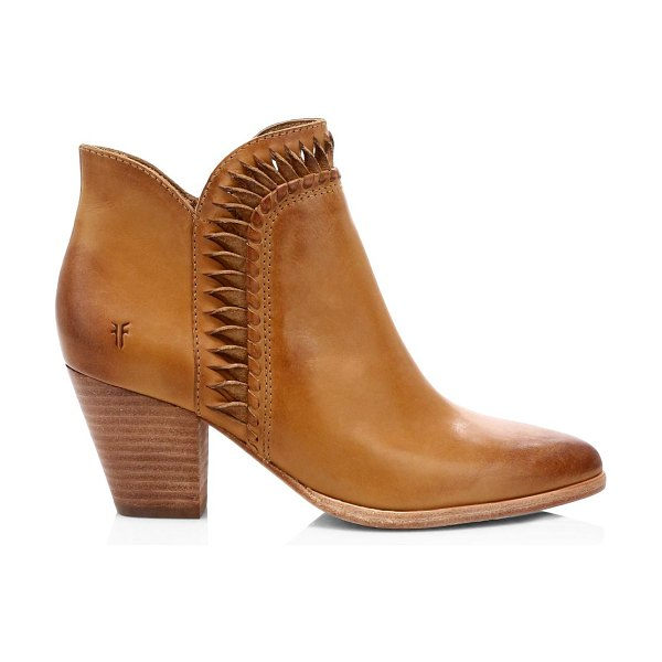 Frye reed twisted leather ankle boots in tobacco