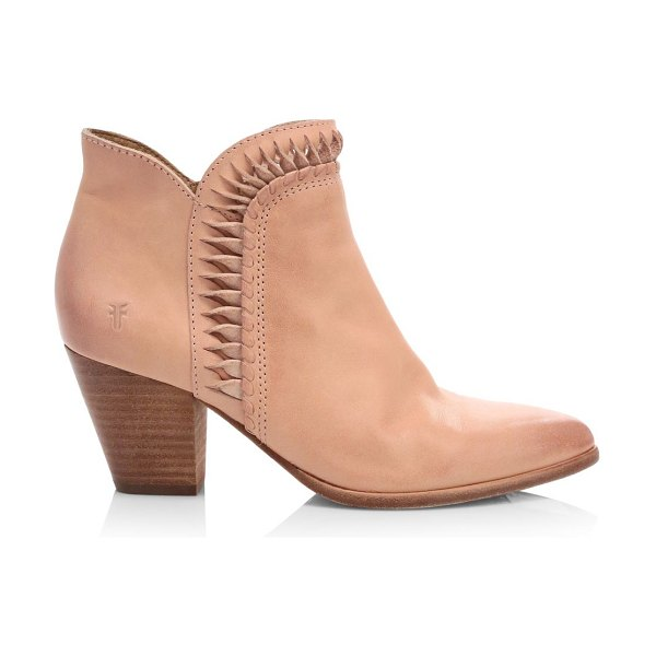 Frye reed twisted leather ankle boots in pale blush