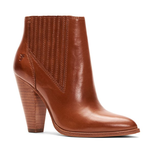 Frye Remy Heeled Leather Chelsea Booties in brown