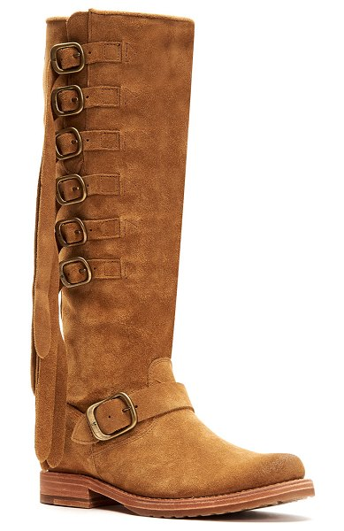 Frye Veronica Belted Knee Boots in brown
