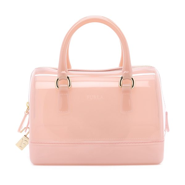FURLA Candy cookie mini satchel in winter rose - A petite Furla tote composed of soft, yet resilient...