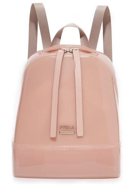 Furla Candy small backpack in moonstone - A petite Furla backpack rendered in the brand's...