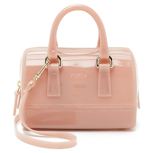 Furla Candy sweetie mini bag in moonstone - A petite Furla cross body bag in colorful rubber. The...