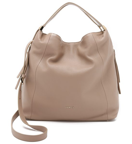 Furla Liz medium hobo bag in caramello