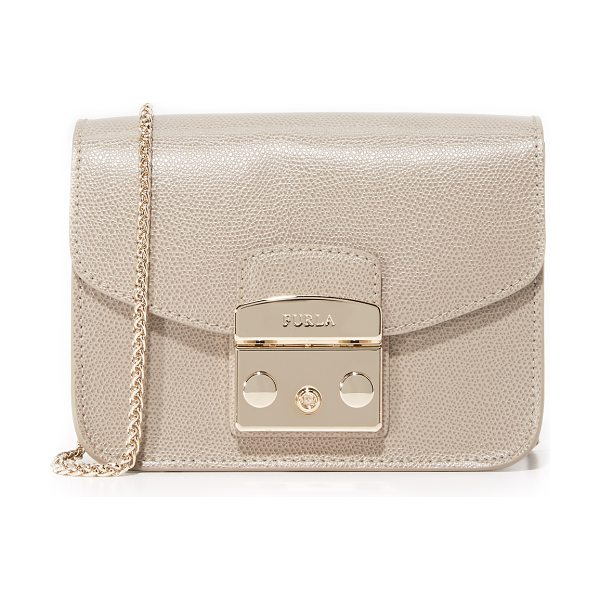 Furla metropolis mini cross body bag in sabbia - A petite Furla cross-body bag in rich leather. A...