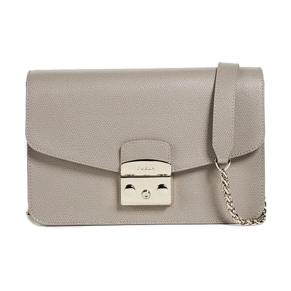 Furla metropolis small shoulder bag in sabbia - Leather: Cowhide Push-button clasp at front Zip interior...