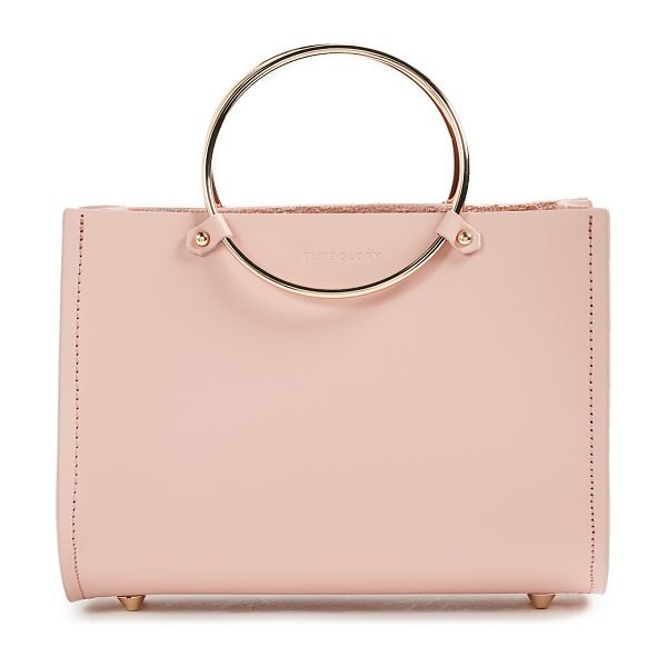 Future Glory Co. rockwell mini bag in pink - Leather: Cowhide Gold-tone ringed handles Dust bag...