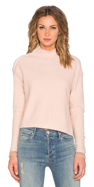 G-Star Aeronotic short turtleneck sweater in blush - Shell: 61% wool 39% acrylicContrast: 100% poly. Dry...