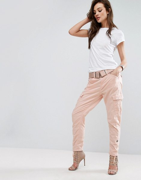 """G-Star Be Raw Utility Cargo Pant in pink - """"""""Pants by G Star, Soft woven fabric, Mid-rise waist,..."""