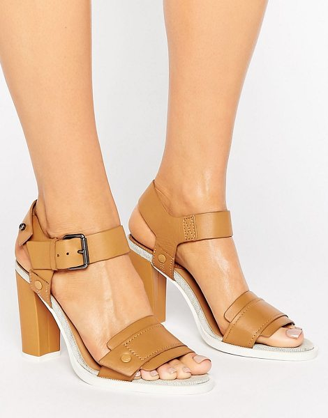 "G-Star claro tan leather heeled sandals in tanleather - """"Shoes by G Star, Leather upper, Ankle-strap fastening,..."