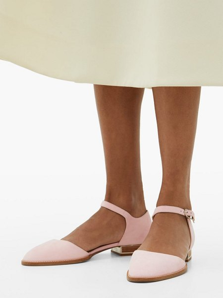 Gabriela Hearst riley suede mary-jane flats in pink
