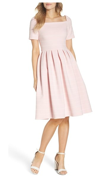 Gal Meets Glam Collection aria fit & flare dress in pink - Experience a fit-and-flare dress of a different stripe,...