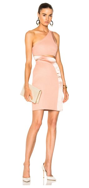GALVAN LONDON for FWRD Asymmetric Mini Cocktail Dress - Self: 82% triacetate 18% poly - Contrast Fabric: 80%...