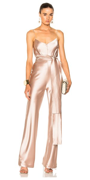 GALVAN LONDON for FWRD Slouchy Jumpsuit With Waist Tie - Self: 81% triacetate 19% poly - Lining: 95% silk 5%...