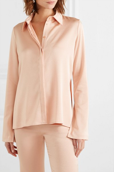 Galvan London crepe shirt in peach - EXCLUSIVE AT NET-A-PORTER. Galvin's shirt is designed to...