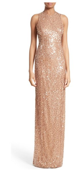 Galvan London sequin racerback gown in metallic - Made from comfortable stretch jersey embroidered with...