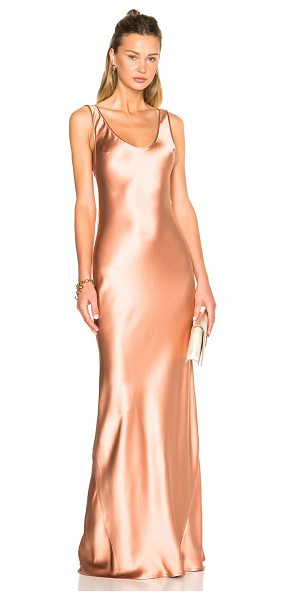 Galvan London Silk 90's Bias Dress in metallics,pink - 100% silk.  Made in UK.  Unlined.