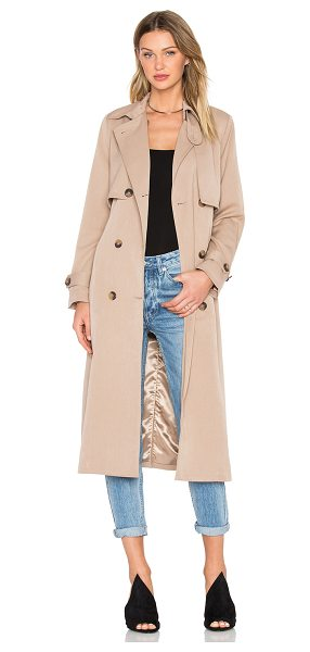 Ganni Brown trench coat in beige - Self: 65% poly 30% viscose 5% elastaneLining: 100% poly....