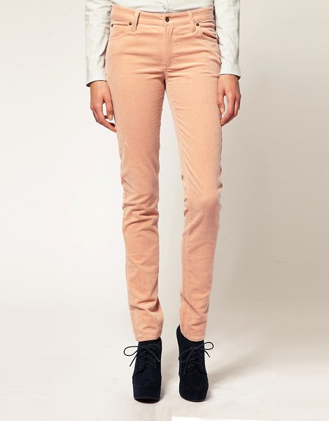 Ganni Corduroy Skinny Jeans in pink - Corduroy jeans by Ganni. Featuring an all-over cord...