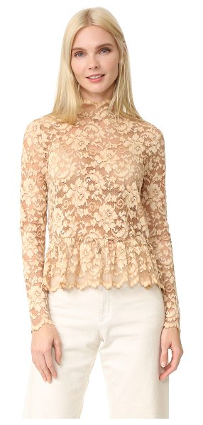 GANNI flynn lace blouse - A webbed lace Ganni blouse with a classic floral design....