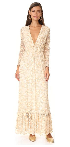 Ganni flynn lace dress in vanilla ice - A romantic Ganni maxi dress in delicate lace. A...