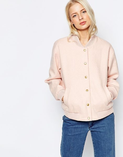 Ganni Inglewood Pink Bomber Jacket in pink - Jacket by Ganni, Lightweight fluffy outer, Fully lined,...