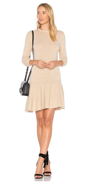 Ganni Mercer Mini Dress in beige - Wool blend. Hand wash cold. Unlined. Knit fabric....