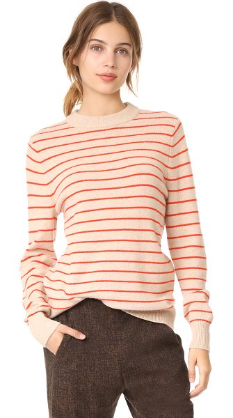 Ganni mercer sweater in cuban sand - This lightweight wool Ganni sweater is detailed with...