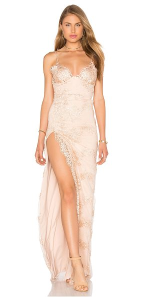 GEMELI POWER Motel Jay Dress in blush - Self: 100% polyLining: 94% poly 6% spandex. Hand wash...