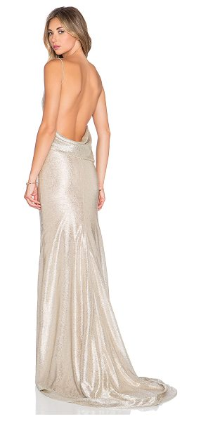 GEMELI POWER Ms jasper gown - Poly blend. Hand wash cold. Fully lined. Metallic...