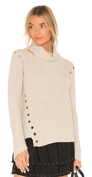 Generation Love Ambrose Cashmere Sweater in beige - Cashmere blend. Dry clean only. Silver tone grommet...